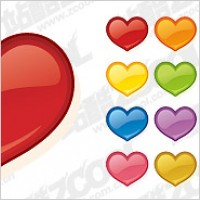 Link toWeb2.0 style heart-shaped icon vector material