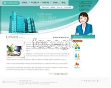 Link toWebsite business lady psd