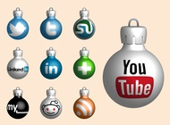Link toWebsite christmas balls vector free