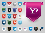 Link toWebsite vector buttons free