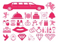 Link toWedding and love icons vector free