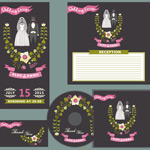 Link toWedding cards and cd cover vector
