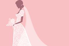 Link toWedding dress bride vector