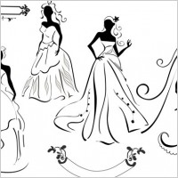 Link toWedding dress silhouette vector