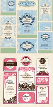 Link toWedding invitation card vector design template