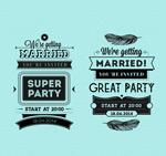 Link toWedding invitation cards word art vector