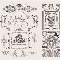 Link toWedding lace pattern vector