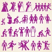Link toWedding people silhouette design vector free