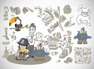 Link toWeird cartoons vector free