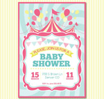 Link toWelcome baby party invitation poster vector