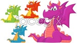 Link toWestern cartoon dragon vector