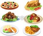 Western food vector