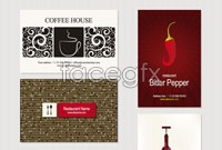 Link toWestern menu cover four vector
