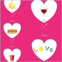 Link toWestern pink heartshaped graphics vector