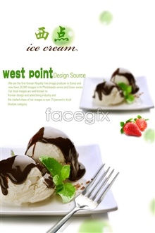 Link toWestern-style desserts psd design of advertising