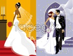 Link toWestern-style wedding pictures vector