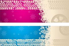 Link toWheel texture banner vector