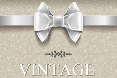 Link toWhite background retro bow vector