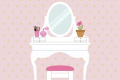 White bedroom dresser vector