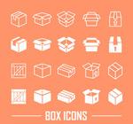 Link toWhite box icon vector