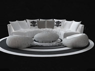 Link toWhite circular sofa combination 3d model