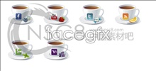 Link toWhite coffee cup icons