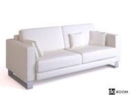 Link toWhite comfortable double seats sofa 3d model