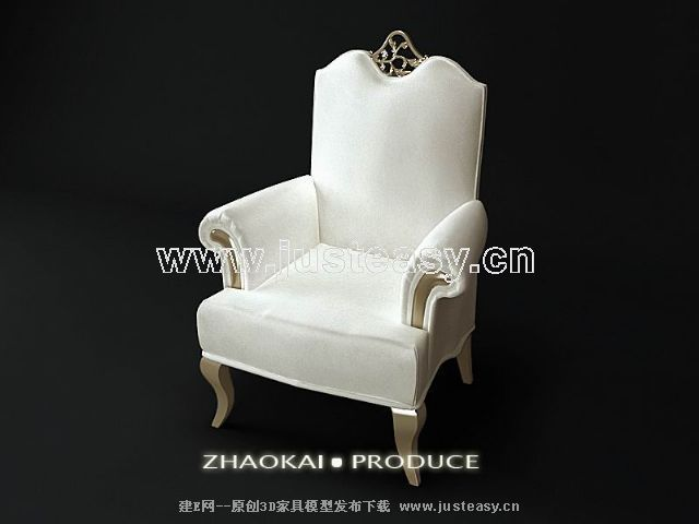Link toWhite european single sofa 3d model (including materials)