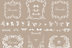 Link toWhite european-style pattern vector