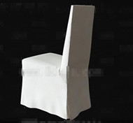 Link toWhite fabric back-rest chair 3d model