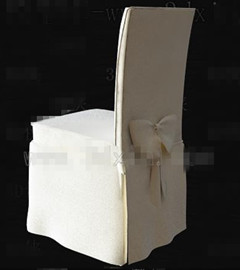Link toWhite fabric wooden chair 3d model
