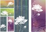 Link toWhite flower banner vector