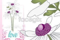 Link toWhite flower lace vector