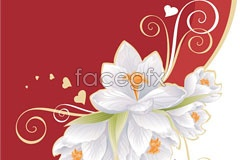 Link toWhite flower pattern vector
