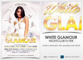 Link toWhite glamour flyer template
