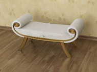 Link toWhite gold-rimmed sofa bench 3d model
