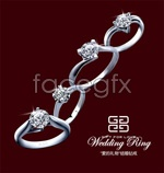 Link toWhite gold wedding ring psd