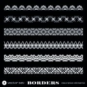 Link toWhite lace borders design vector set 02