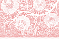 Link toWhite lace flowers vector