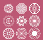 Link toWhite lace pattern vector