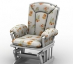 Link toWhite leisure chair model 3d model
