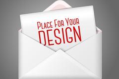 White letter design vector