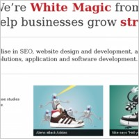 Link toWhite magic homepage design