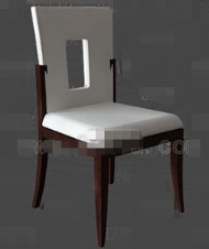 Link toWhite openwork back chair 3d model