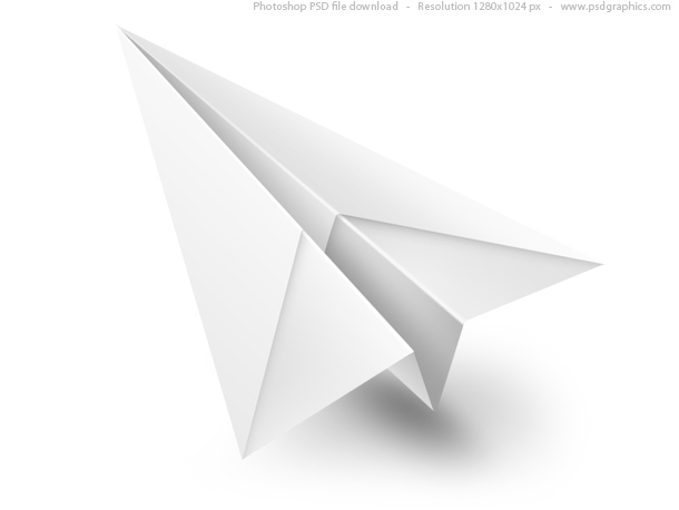 Link toWhite paper airplane psd icon