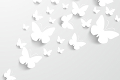 Link toWhite paper-cut butterfly vector