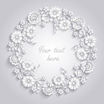 Link toWhite paper wreath vector