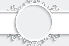 Link toWhite pattern paper-cut vector background