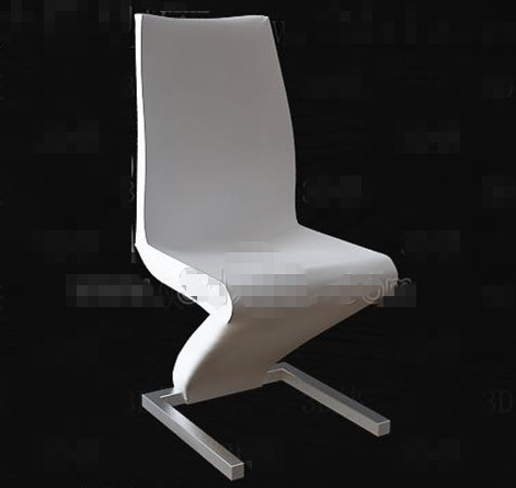Link toWhite personality bent chair 3d model