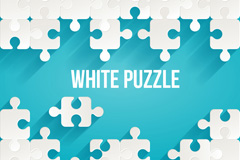 Link toWhite puzzle pieces, background vector